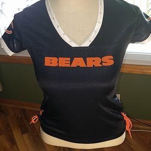 Chicago Bears Shirt Top Women Small Blue V neck